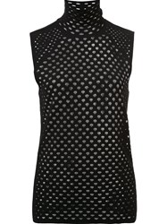 Dorothee Schumacher Perforated Tank Top Black
