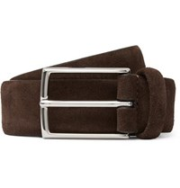 Andersons 3.5Cm Dark Brown Suede Belt
