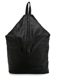 Yohji Yamamoto Leather Backpack Black