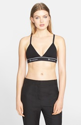 T By Alexander Wang 'Lux' Ponte Crossback Triangle Bra Black