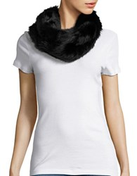 Collection 18 Faux Fur Cowlneck Muffler Black