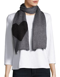 Wooden Ships Knit Heart Scarf Grey