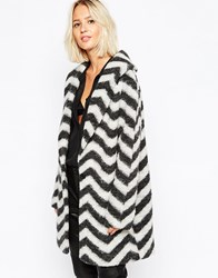Selected Nommia Coat In Monochrome Black