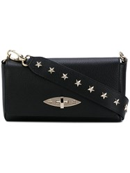Red Valentino Star Studded Clutch Women Leather One Size Black