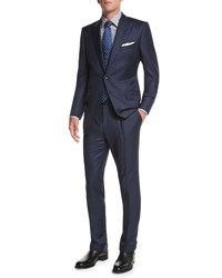 Tom Ford O'connor Base Sharkskin Two Piece Suit Navy