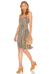 Equipment Kate Moss For Jessa Cheetah Print Slip Dress Beige
