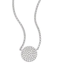 Saks Fifth Avenue 14K White Gold Round Diamond Medallion Necklace