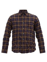 The Gigi Check Embroidered Created Cotton Blend Shirt Navy Multi