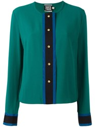 Fausto Puglisi Collarless Shirt Green