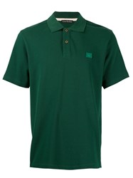 Acne Studios Face Patch Polo Shirt Green
