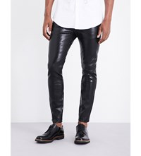 Dsquared2 Skater Lamina Waxed Skinny Fit Jeans Black