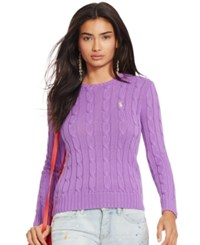Polo Ralph Lauren Cable Knit Crewneck Sweater Laguna Purple