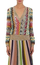Missoni Women's Open Knit V Neck Sweater Green No Color Green No Color