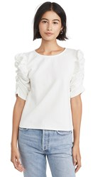 Line And Dot Moreno Ruched Top White