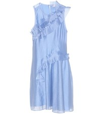 Carven Ruffled Shift Dress Blue