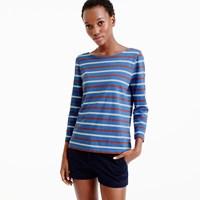 J.Crew Boatneck T Shirt In Mixed Stripe