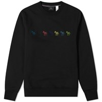 Paul Smith Multi Zebra Embroidered Sweat Black