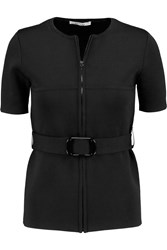 Carven Belted Knitted Cardigan Black