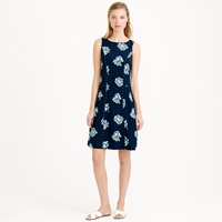 J.Crew Graphic Peony Sleeveless Dress