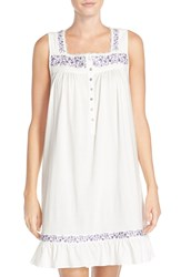 Eileen West 'Venetian' Short Nightgown Ivory Purple