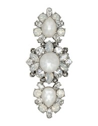 Marchesa Opal And Rhodium Silvertone Cluster Ring