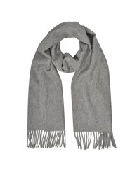 Mila Schon Long Scarves Cashmere And Wool Taupe Fringed Long Scarf