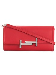 Tod's Double T Wallet On Chain Red