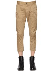 Dsquared 17Cm Stretch Cotton Twill Pants