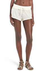 Roxy Women's Crochet Inset Cover Up Shorts Sea Spray