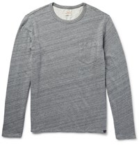 Faherty Reversible Cotton T Shirt Gray