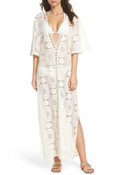 Chelsea 28 Chelsea28 Lace Cover Up Maxi Dress Ivory Pristine