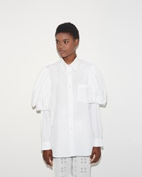 Simone Rocha Puff Sleeve Shirt White