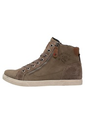 Tom Tailor Hightop Trainers Taupe