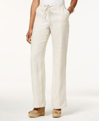Jm Collection Petite Linen Drawstring Pants Only At Macy's Flax