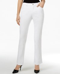 Lee Platinum Petite Nellie Barely Bootcut Jeans White