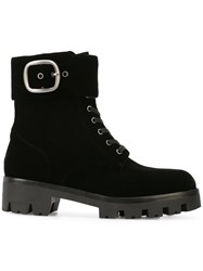 Coach Lucy Lace Up Boots Black