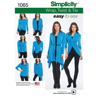 Simplicity Wrap Twist And Tip Knit Cardigan Sewing Pattern 1065 A