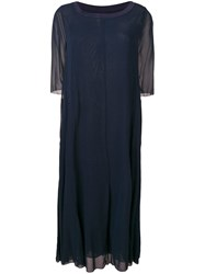 Kristensen Du Nord Sheer 3 4 Sleeve Dress Blue