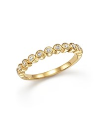 Bloomingdale's Diamond Band Ring In 14K Yellow Gold .20 Ct. T.W.