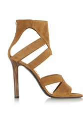 Tamara Mellon Talisman Suede Sandals Brown