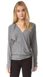 Ella Moss Brenna Wrap Sweater Heather Cinder