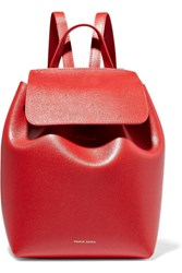 Mansur Gavriel Mini Textured Leather Backpack One Size
