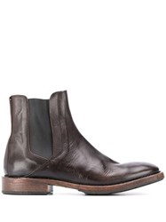 Moma Leather Chelsea Boots Brown