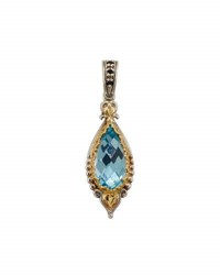 Konstantino Amphitrite Teardrop Topaz And Spinel Pendant Enhancer Blue