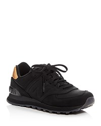New Balance 547 Molten Metal Lace Up Sneakers Black Gold