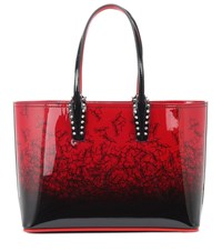 Christian Louboutin Cabata Small Patent Leather Tote Red