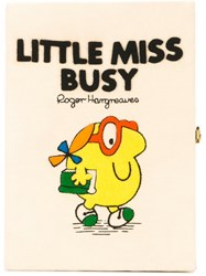 Olympia Le Tan Little Miss Busy Book Clutch Nude And Neutrals