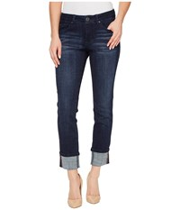 Jag Jeans Maddie Skinny Cuff Crosshatch Denim In Night Breeze Night Breeze Women's Blue