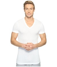 2Xist Active Core Mesh V Neck White Men's Clothing