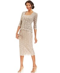 R And M Richards Petite Sequin Lace Sheath And Jacket